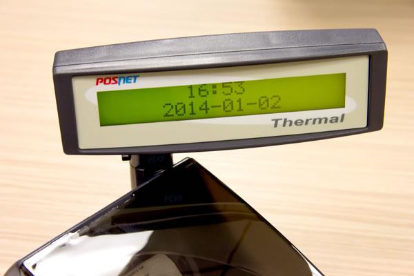 Drukarka fiskalna Posnet Thermal FV - Alfanumeryczny i przejrzysty ekran LCD